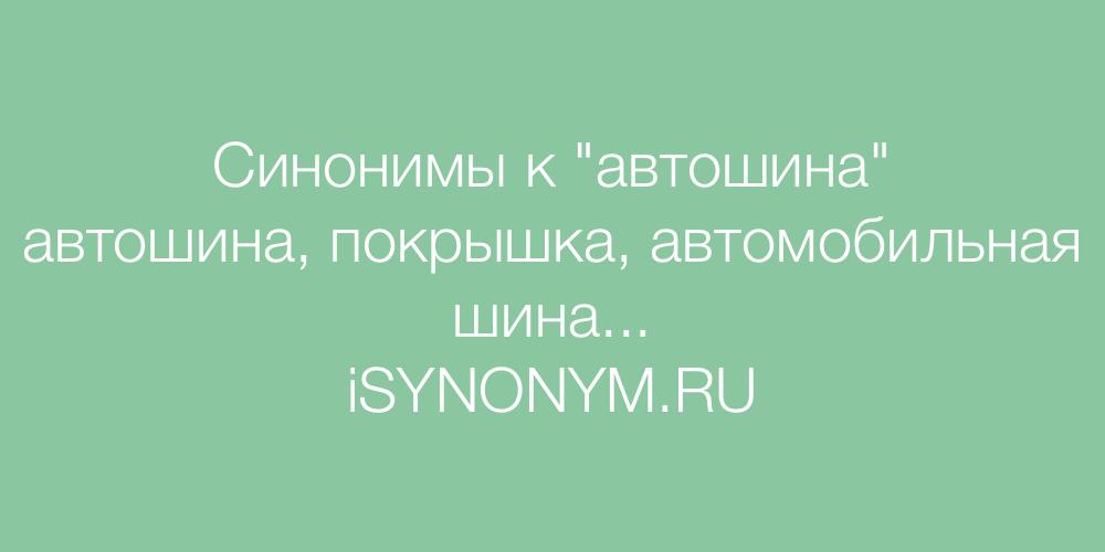 Синонимы слова автошина