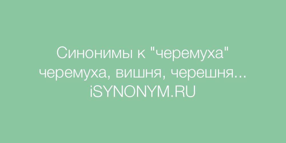 Синонимы слова черемуха