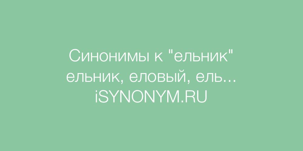 Синонимы слова ельник