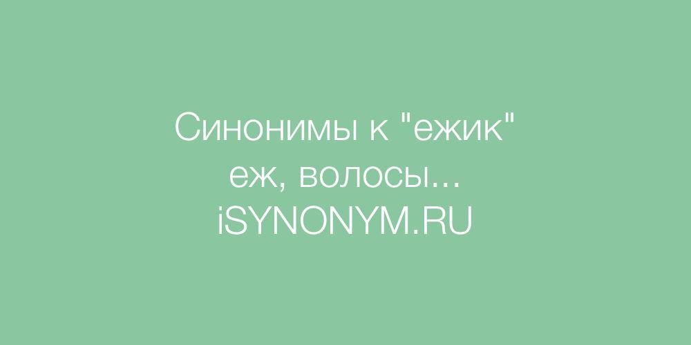 Синонимы слова ежик