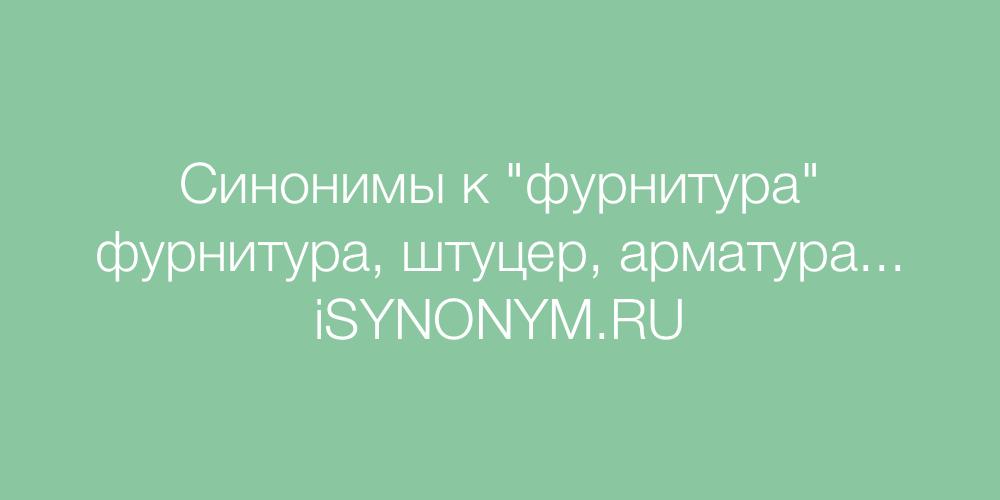 Синонимы слова фурнитура