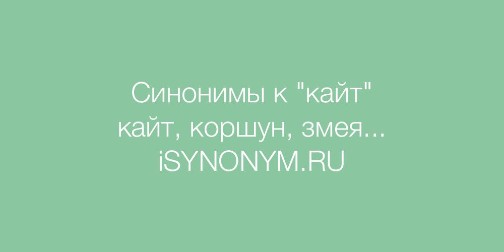 Синонимы слова кайт