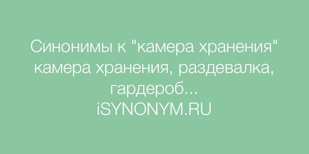 Синонимы слова камера хранения