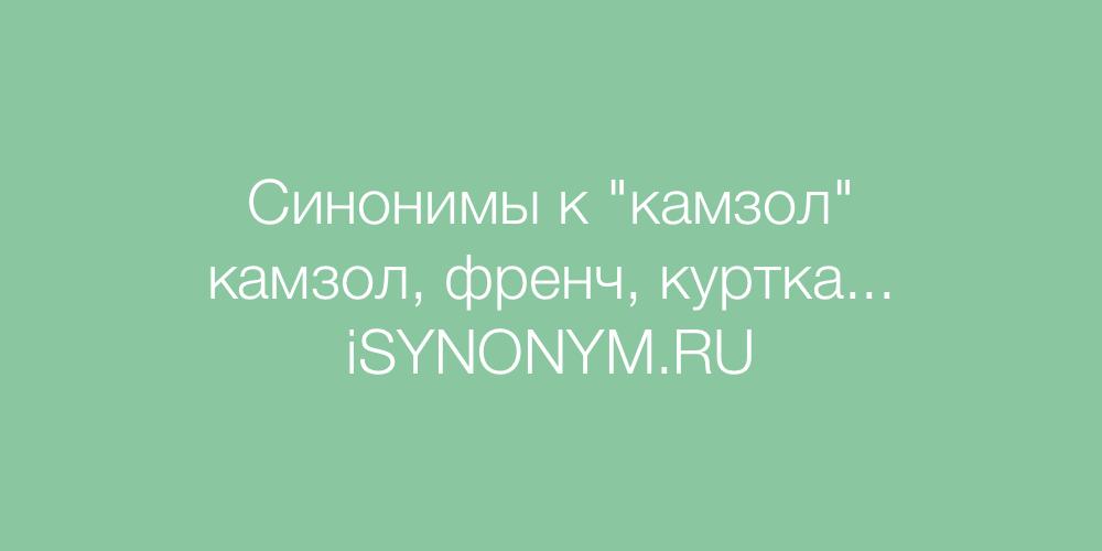 Синонимы слова камзол
