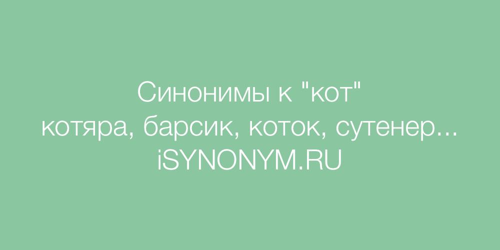 Синонимы слова коте