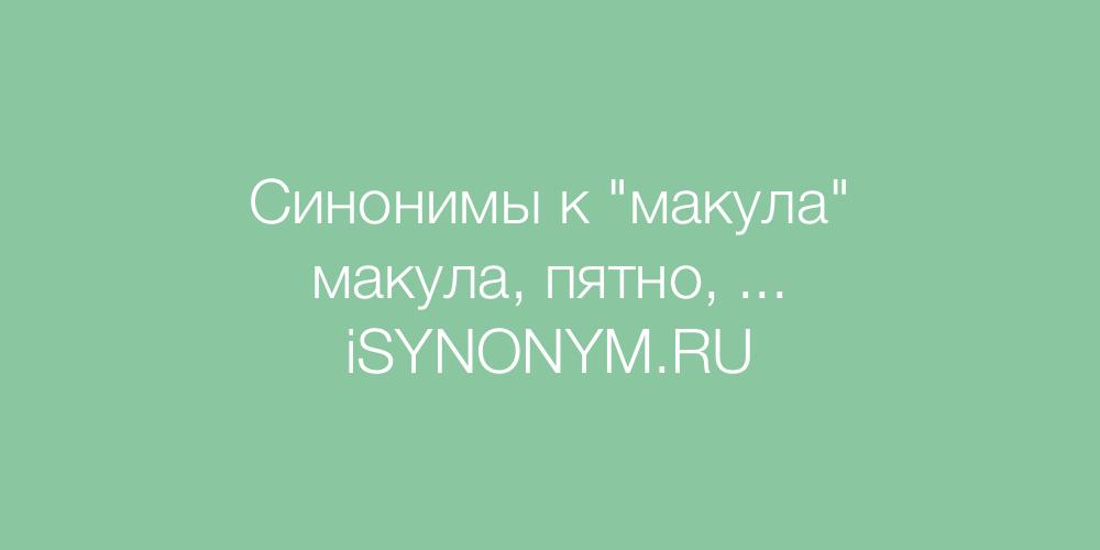 Синонимы слова макула