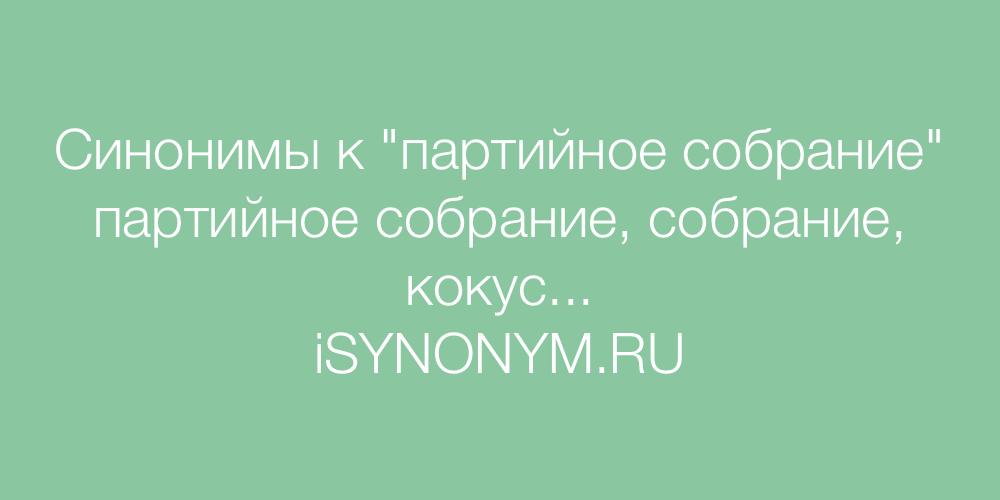 Синонимы слова партийное собрание