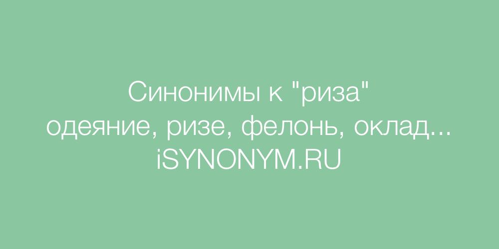 Синонимы слова риза