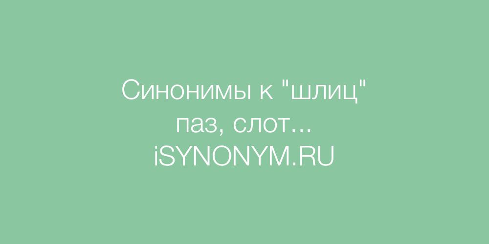 Синонимы слова шлиц