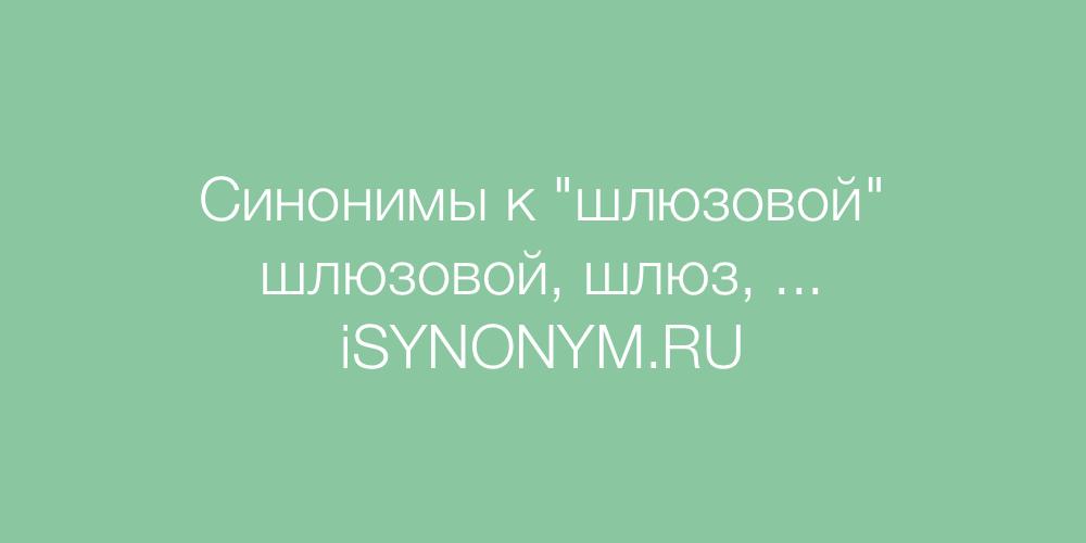 Синонимы слова шлюзовой