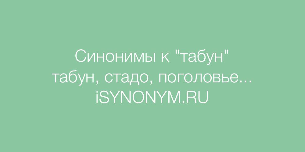 Синонимы слова табун