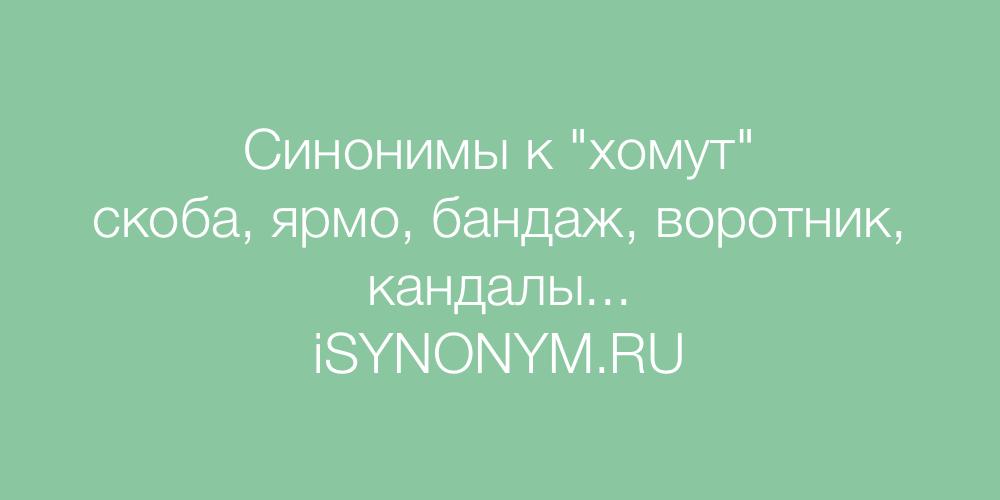 Синонимы слова хомут