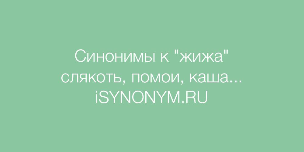 Синонимы слова жижа